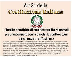 art 21 costituzione